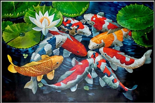 diamond koi fish painting for sale