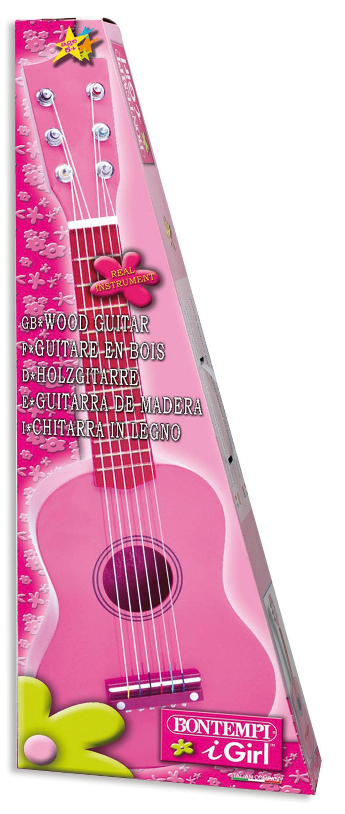 Chitarra in legno 55 cm rosa - Bontempi