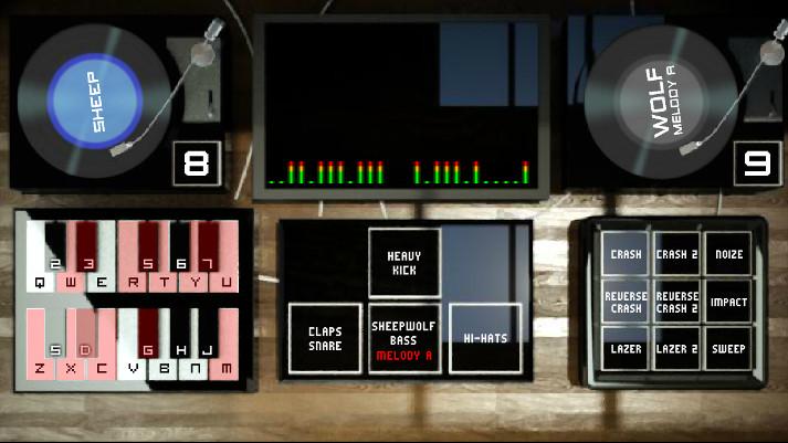 DJ Sheepwolf Mixer 5 gioca a fare il DJ online mixando le