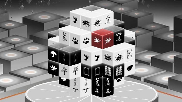 Mahjong Black and White 3 Dimensions  Giochicom