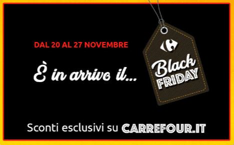 black friday giocattoli carrefour