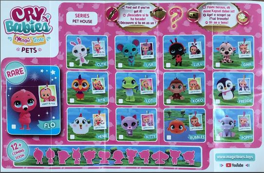 cry babies magic tears pets cuccioli booklet