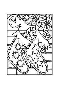 calza della befana due calze disegni da colorare