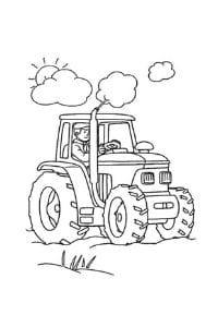 trattori da colorare e stampare disegni per bambini contadino