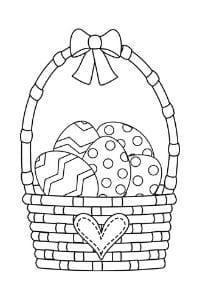 disegni di pasqua da colorare cestino uova di pasqua