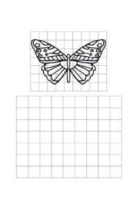 disegni da copiare farfalla