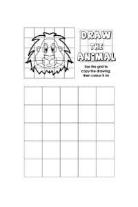 disegni da copiare leone