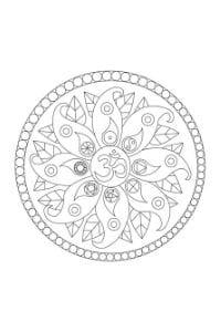 mandala per bambini da colorare con simboli