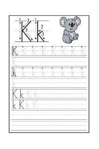 Scheda Pregrafismo lettera K