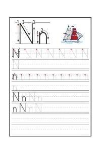 Scheda Pregrafismo lettera N