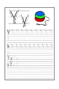 Scheda Pregrafismo lettera Y