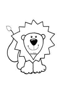 disegni da colorare e stampare per bambini di 3 anni Leone