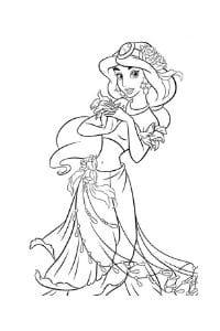 disegni da colorare in formato A4 jasmine