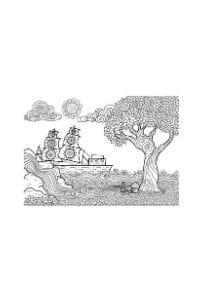 disegni da colorare in formato A4 nave