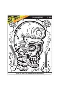 disegni da colorare in formato A4 teschio graffiti