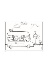 disegni da colorare per bambini 4 anni bus