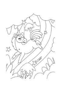 disegni da colorare per bambini 4 anni unicorno