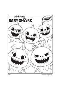 disegni da colorare per bambini di 5 anni Baby Shark