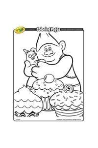 disegni da colorare per bambini di 5 anni Grandino Trolls