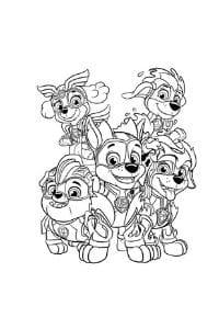disegni da colorare per bambini di 5 anni Paw Patrol Super cuccioli