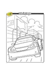 disegni da colorare per bambini di 6 anni Auto da corsa