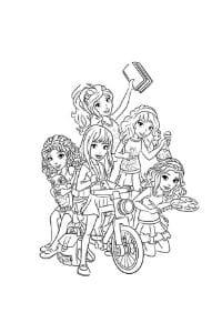 disegni da colorare per bambini di 9 anni lego friends gita