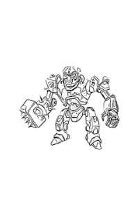 disegni da colorare robozuna combat robot