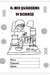 copertina del mio quaderno di scienze