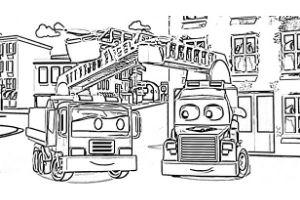Super Truck disegni da colorare e stampare PDF Carl Trasform pompiere