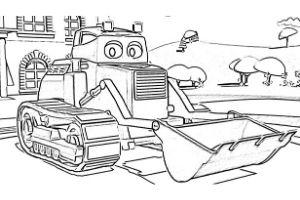 Super Truck disegni da colorare e stampare PDF Carl Trasform ruspa