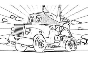 Super Truck disegni da colorare e stampare PDF Carl Trasform