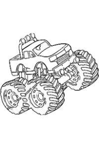 monster truck da colorare PDF pick up