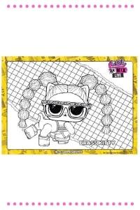 lol surprise remix disegni da colorare Pets brass kitty