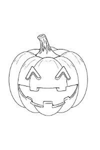 disegni da colorare halloween zucca che ride