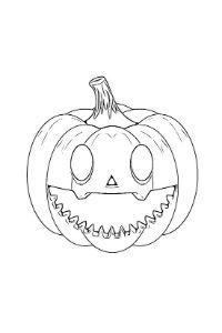 disegni zucca di halloween da ritagliare