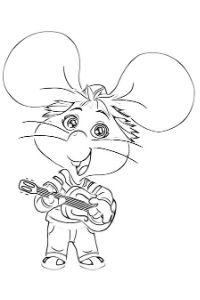 disegni da colorare topo gigio nuovo cartonea