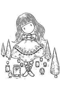 bambole gorjuss disegni da colorare per bambini PDF