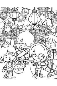 disegni da colorare toca life personaggi