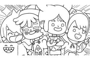 personaggi di toca life da colorare e stampare pdf