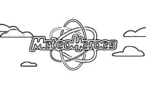 disegni da colorare e stampare MeteoHeroes scritta