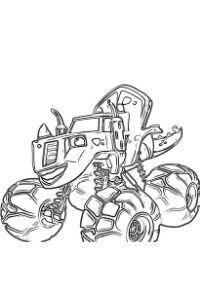 blaze e le megamacchine da colorare disegno zeg