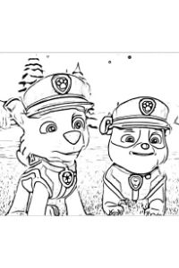 paw patrol ultimate rescue disegni da colorare rocky rubble