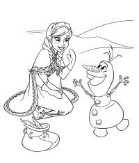 Disegni Da Colorare Frozen Olaf Colora Anna E Olaf