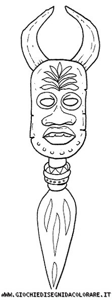 Tribal Mask From Kenya Coloring Sheets Coloring Pages
