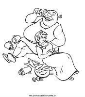 Disegni da colorare Shrek, disegni dei personaggi Disney ...