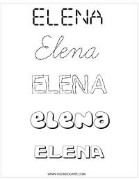 elena Nomi da colorare