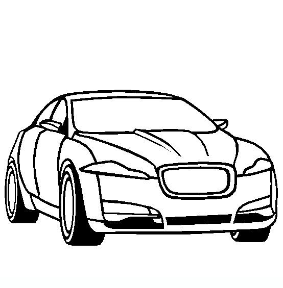 Jaguar-XF disegni da colorare di mezzi di trasporto