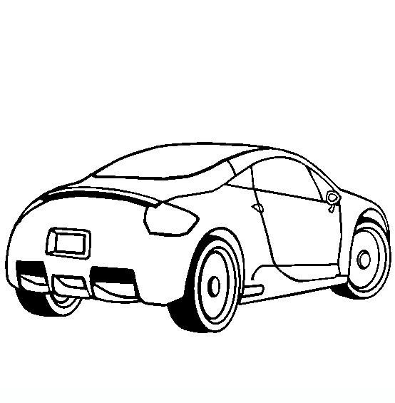 Sports Car Sketch Sketch Coloring Page