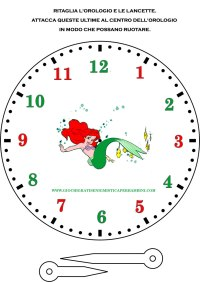 Orologio con la Sirenetta Ariel