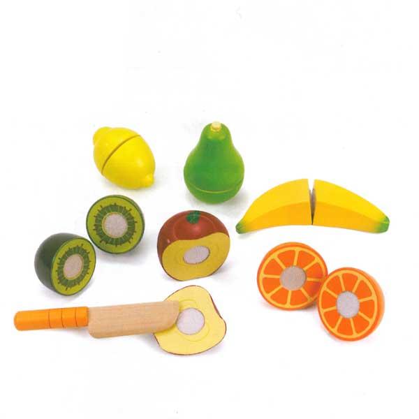 Frutta da tagliare in legno  E3117  GIOCHIMPARA SRL